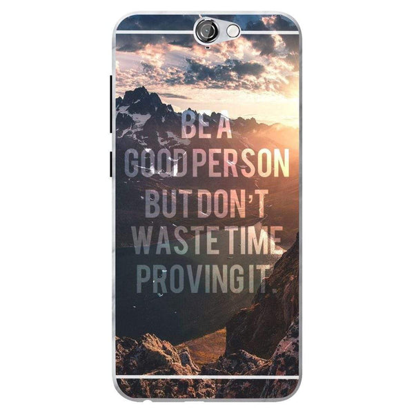 Husă Inspirational Quote-mountain Background HTC One A9 Guardo.shop
