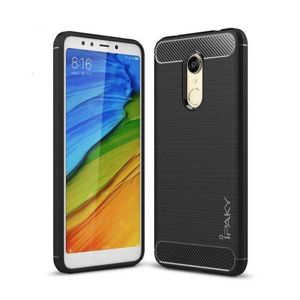 Husa iPaky Slim Carbon din TPU pentru Xiaomi Redmi 5 Plus / Redmi Note 5 (single camera) black iPaky