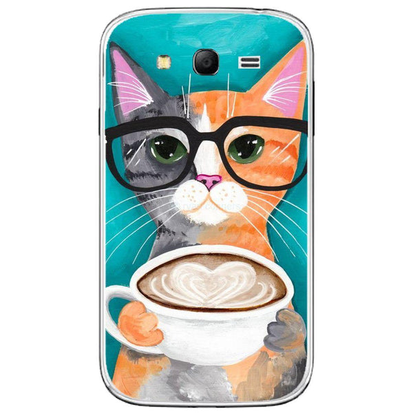 Husă Latte Caffe Cat SAMSUNG Galaxy Grand Guardo.shop