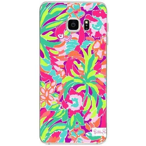 Husa Lilly flamingo tropic color Samsung Galaxy S6 Edge Plus Guardo.shop