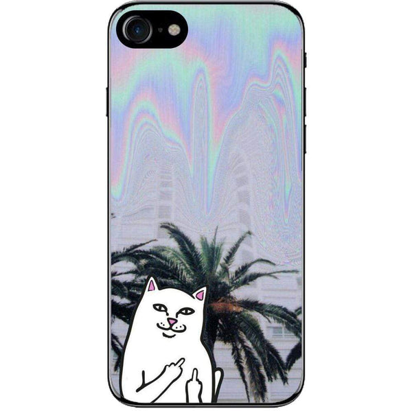 Husă Middle Finger Cat Psy Background APPLE Iphone 8 Guardo.shop