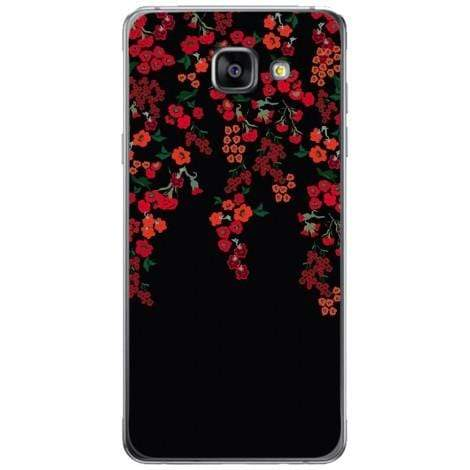 Husa Minimalist red flowers dark Samsung Galaxy A5 2016 Guardo.shop