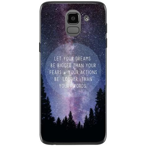 Husa Nightsky background quote Samsung Galaxy J6 2018 Guardo.shop