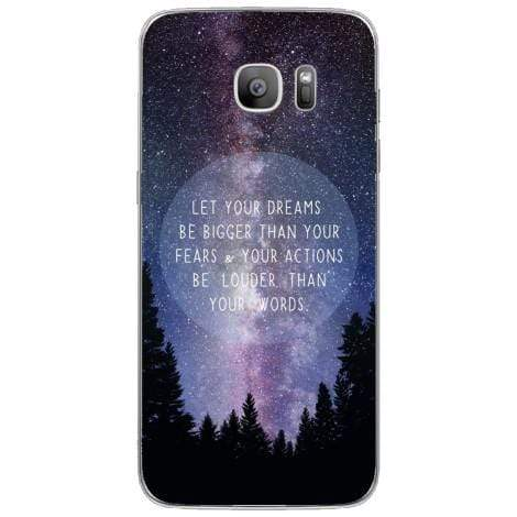 Husa Nightsky background quote Samsung Galaxy S7 Guardo.shop
