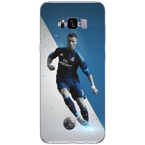 Husa Ronaldo blue and white background Samsung Galaxy S8 Plus Guardo.shop