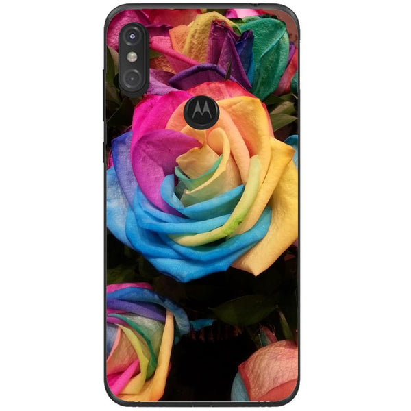 Husa Rose rainbow multicolored Motorola One Guardo.shop