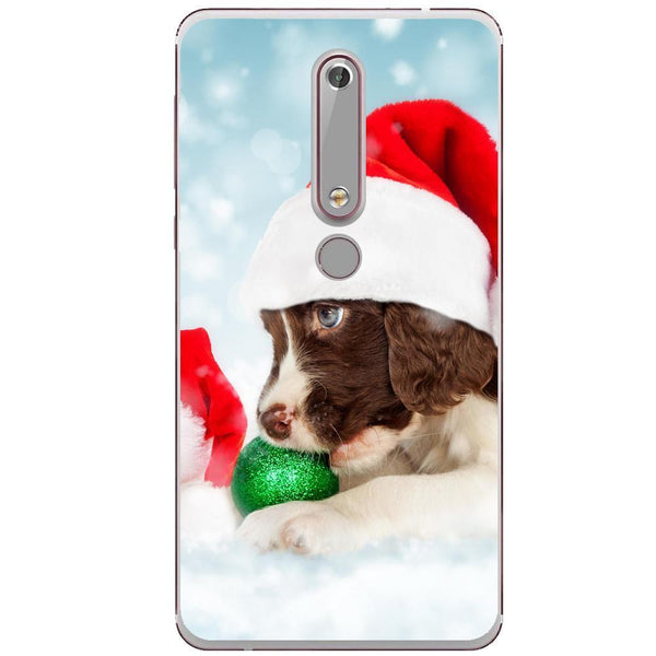 Husa Santa puppy Nokia 6.1 Guardo.shop