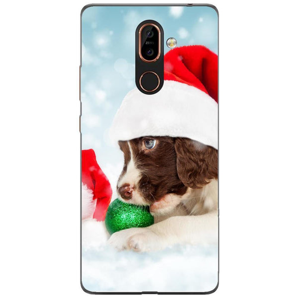 Husa Santa puppy Nokia 7 Plus Guardo.shop