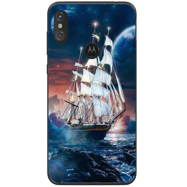 Husa Ship moon horizon Motorola One Guardo.shop