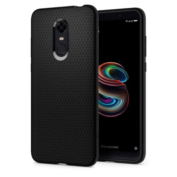 Husa Spigen Liquid Air Case pentru Xiaomi Redmi 5 Plus / Redmi Note 5 (single camera) black (Black) Spigen