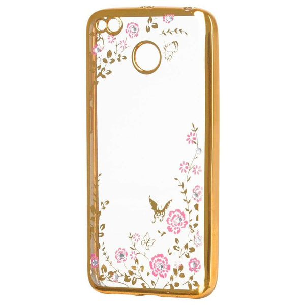 Husa Stylish Floral TPU Gel pentru Xiaomi Redmi 4X golden Guardo.shop