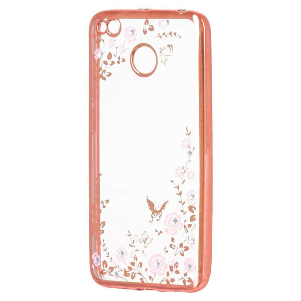 Husa Stylish Floral TPU Gel pentru Xiaomi Redmi 4X pink Guardo.shop