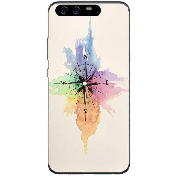 Husa Watercolor Compass Huawei P10 Plus Guardo.shop