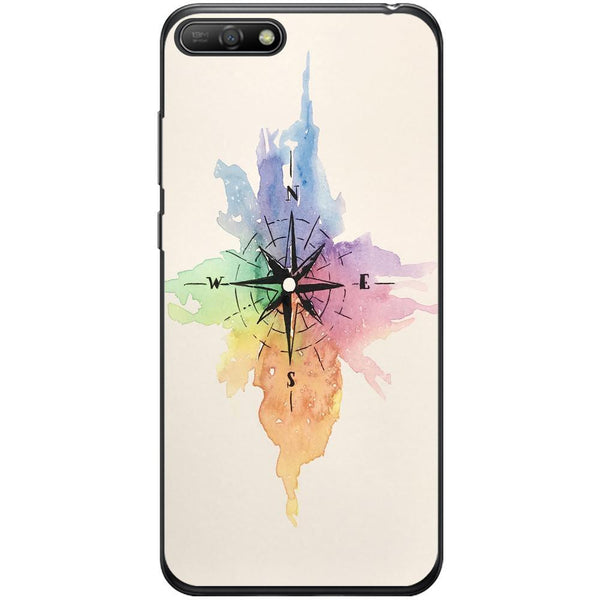 Husa Watercolor Compass Huawei Y6 2018 Guardo.shop