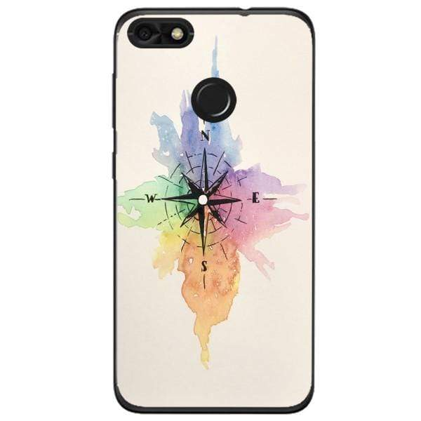 Husa Watercolor Compass Huawei Y6 Pro 2017 Guardo.shop