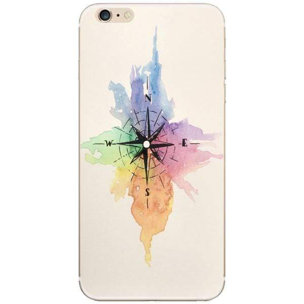 Husa Watercolor Compass Iphone 6 Plus Guardo.shop