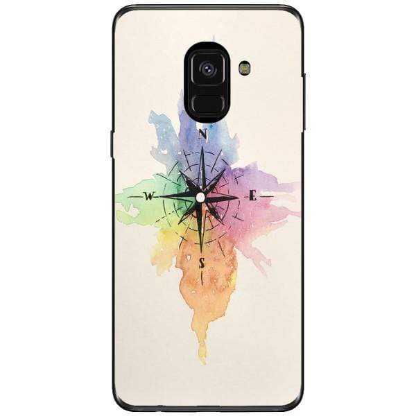 Husa Watercolor Compass Samsung Galaxy A8 2018 Plus Guardo.shop