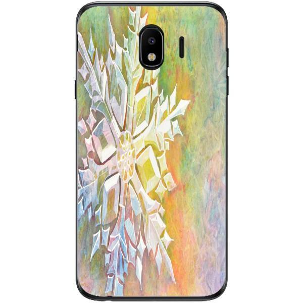 Husa Watercolor Snowflake Samsung Galaxy J4 2018 Guardo.shop