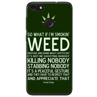 Husa Weed Message Huawei Y6 Pro 2017 Guardo.shop