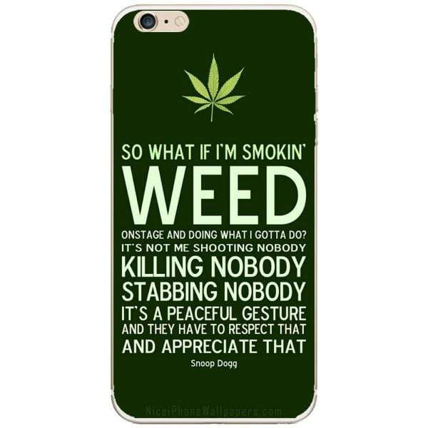 Husa Weed Message Iphone 6 Plus Guardo.shop
