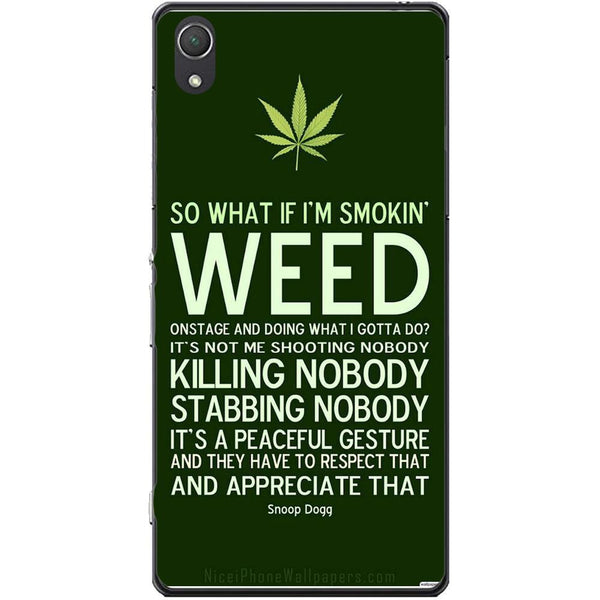 Husa Weed Message Sony Xperia Z2 Guardo.shop