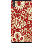 Husa White floral red texture pattern Sony Xperia Z2 Guardo.shop
