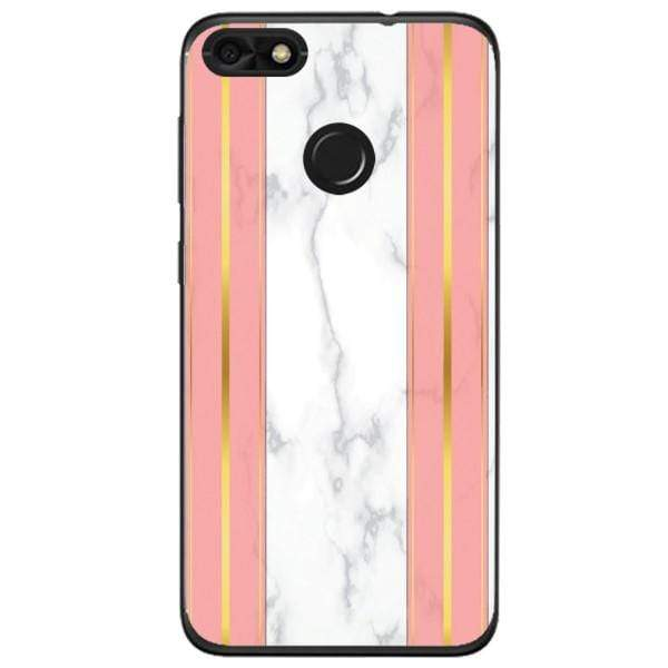 Husa White Marble with pink lines Huawei Y6 Pro 2017 Guardo.shop