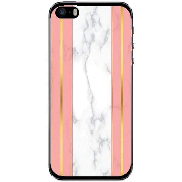 Husa White Marble with pink lines Iphone 5s Guardo.shop