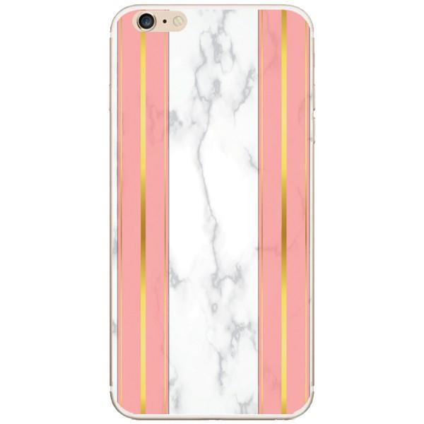 Husa White Marble with pink lines Iphone 6 Plus Guardo.shop