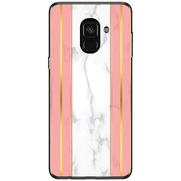 Husa White Marble with pink lines Samsung Galaxy A8 2018 Plus Guardo.shop