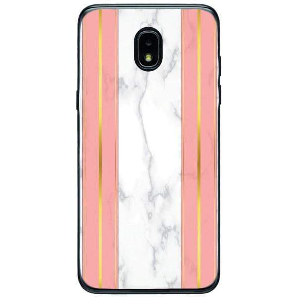 Husa White Marble with pink lines Samsung Galaxy J3 2018 Guardo.shop