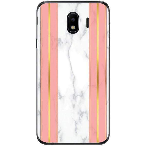 Husa White Marble with pink lines Samsung Galaxy J4 2018 Guardo.shop