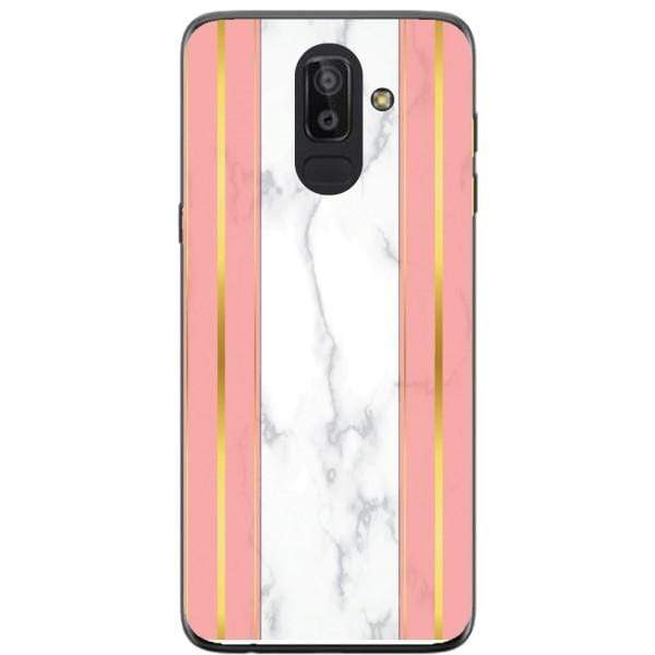 Husa White Marble with pink lines Samsung Galaxy J8 2018 Guardo.shop