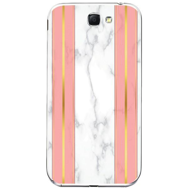 Husa White Marble with pink lines Samsung Galaxy Note 2 Guardo.shop