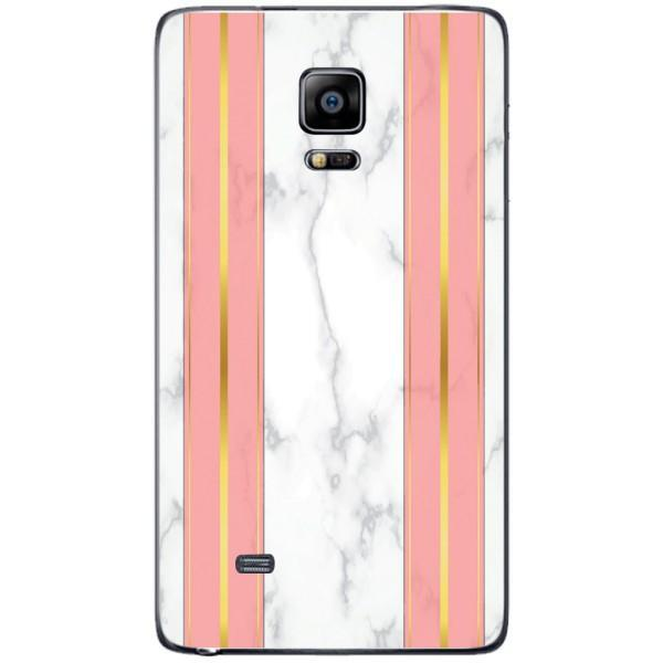 Husa White Marble with pink lines Samsung Galaxy Note 4 EDGE Guardo.shop