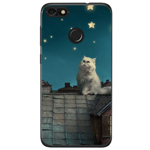 Husa White Persian Cat Huawei Y6 Pro 2017 Guardo.shop