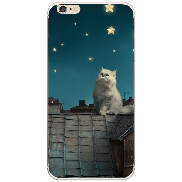 Husa White Persian Cat Iphone 6 Plus Guardo.shop