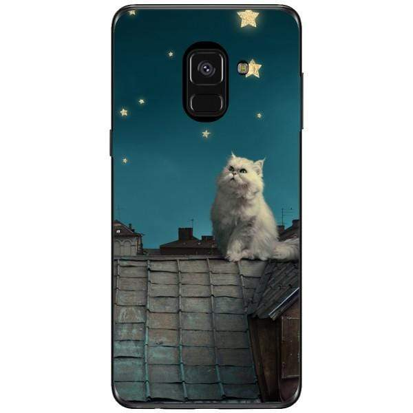 Husa White Persian Cat Samsung Galaxy A8 2018 Plus Guardo.shop