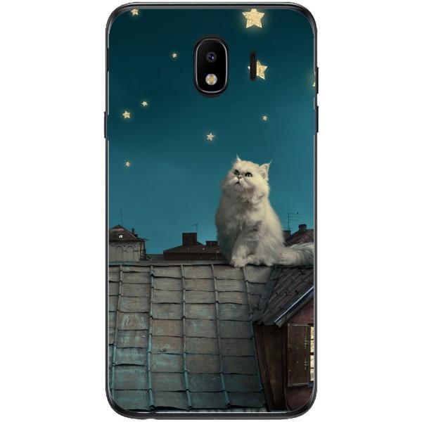Husa White Persian Cat Samsung Galaxy J4 2018 Guardo.shop