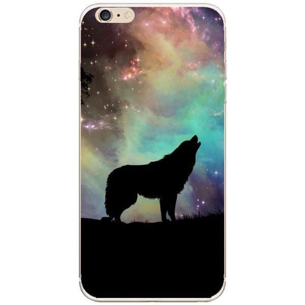Husa Wolf starry sky silhouette art Iphone 6 Plus Guardo.shop