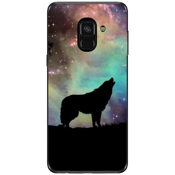 Husa Wolf starry sky silhouette art Samsung Galaxy A8 2018 Plus Guardo.shop