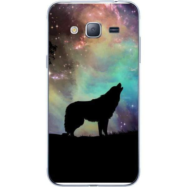 Husa Wolf starry sky silhouette art Samsung Galaxy J3 2015 Guardo.shop