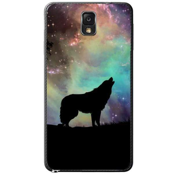 Husa Wolf starry sky silhouette art Samsung Galaxy Note 3 Guardo.shop