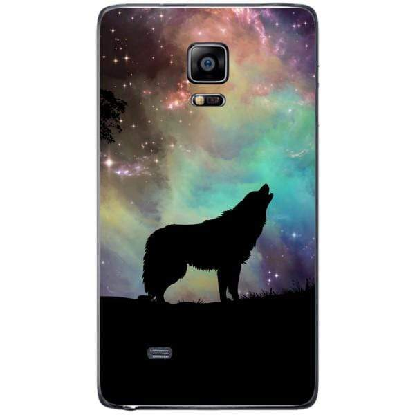 Husa Wolf starry sky silhouette art Samsung Galaxy Note 4 EDGE Guardo.shop