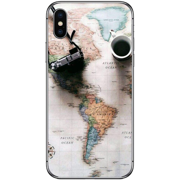 Husă World Maps Travel APPLE Iphone X Guardo.shop
