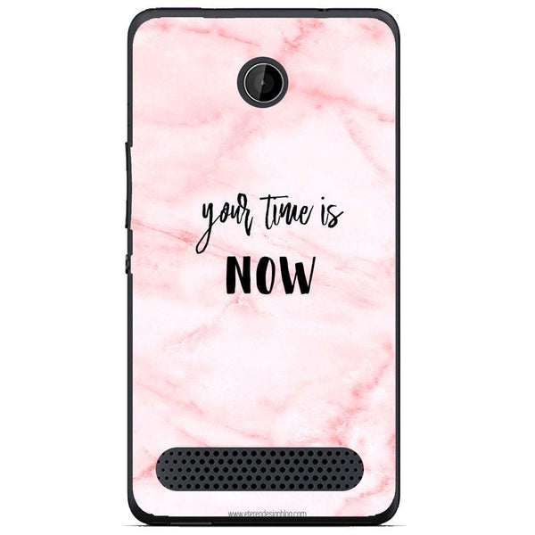 Husă Your Time Is Now Pink Background Sony Xperia E1 D2004 Guardo.shop