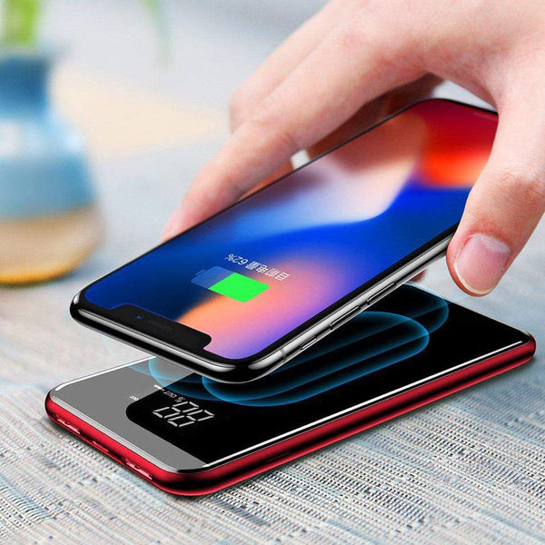 Powerbank Baseus Bracket Wireless Charger Qi 8000 mAh with Wireless Charging and Pull-Type Support red (PPALL-EX09) Baseus