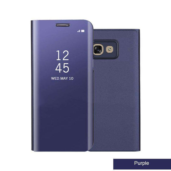 Clear View Standing Cover Purple SAMSUNG Galaxy S7 Edge-Guardo.shop