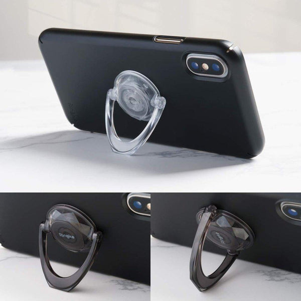 Suport Auto Ringke Prism Ring 2x Grip Holder pentru Smartphone black + clear Ringke