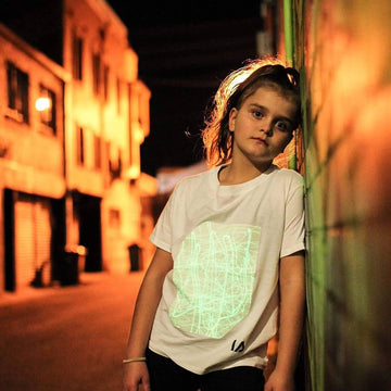 Kids Interactive Glow T-shirt | White